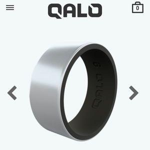 NWT Men's Strata Metallic Collection Qalo Ring